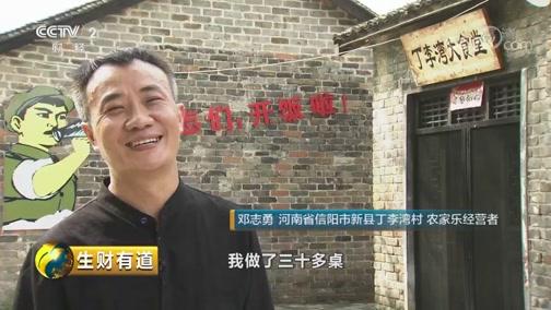 《生财有道》 20190708 夏日经济系列 河南新县:打乡村特色牌 发全域旅游财