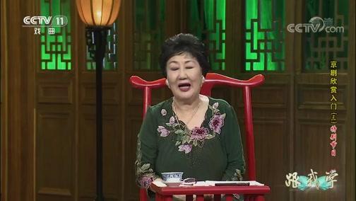 《跟我学》 20190918 京剧欣赏入门(三)特别节目