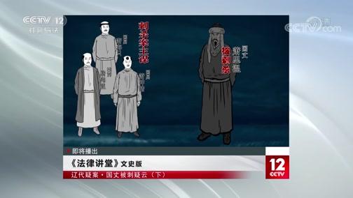 《法律讲堂(文史版)》 20191031 辽代疑案·国丈被刺疑云(下)
