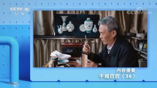 《探索·发现》 20191105 千城百匠(三十六)