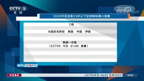 [体育晨报]完整版 20200109