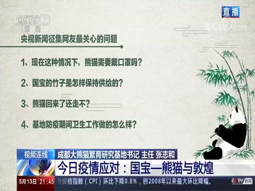 《新闻1+1》 20200513 今日疫情应对:国宝——熊猫与敦煌