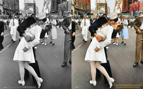 Famous black and white photos colorized