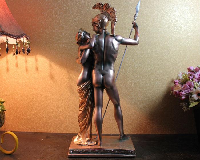 创意仿古工艺品欧式家居装饰树脂人物摆件雕塑 古罗马