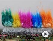 第28届潍坊国际风筝节放飞会精彩片段