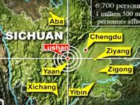 <font color=darkred>Magnitude: </font><br>7,0<br><font color=darkred>Date:</font> <br>8h02, heure de Beijing, le 20 avril 2013<br><font color=darkred>Localité: </font><br>district de Lushan, Ya&acute;an, Sichuan<br><font color=darkred>Epicentre:  </font><br> 30,3 degrés de latitude nord, 103,0 degrés de longitude est<br>