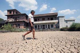 중국 후난, 가뭄 피해 심각