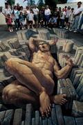 拍案叫绝!美国艺术家巧夺天工的三维幻觉