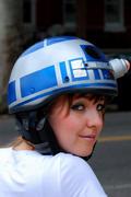玩家DIYR2-D2自行车头盔