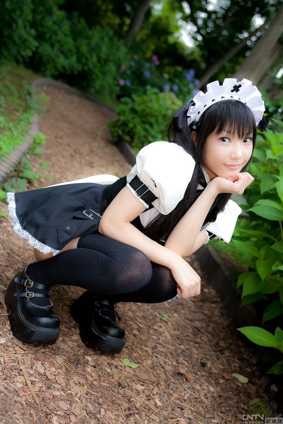 软妹子可爱熊猫丝袜