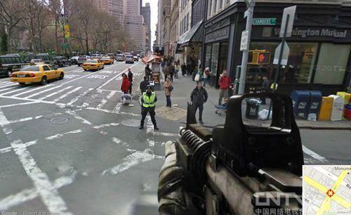 杀所有FPS!Google街景打造史上最逼真射击游戏