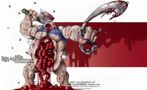 Pudge在战场上徘徊着,诠释着残忍与死亡。他不停地寻找着鲜活的血肉,用来黏到他那可怕的躯体上去。年复一年,他的皮肤已经坚硬到足以抵抗魔法了,而且还能施放毒气,极度有效地弄死敢于靠近他的勇士们。他的钩子能将敌人拽进他那巨大的胃中去,而他的胃只需要短短的几秒钟,就能将其完全消化掉。所以,无论是敌人甚至是盟友,都会对屠夫产生一种难以言状的恐惧。   屠夫不是那种需要频繁释放技能的英雄,他的技能连招很简单,钩过来,开烧,咬住。但是屠夫的使用者必须要有非常好的预判意识,知道对方什么时候会做什么。不然的话,你就