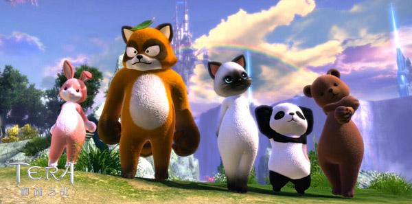这些全身系列的小动物时装共分为超萌熊吉时装,超萌兔美时装,超萌喵喵