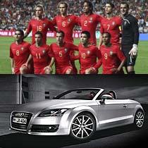 """葡萄牙的足球也一直可以和巴西相提并论,他们甚至是唯一获誉""""欧洲的巴西队""""美称的球队。葡萄牙最擅长闪电战,基本都是先发制人,短快灵的打法也是夺冠大热门。奥迪TT的灵动与葡萄牙整体风格非常相似。"""