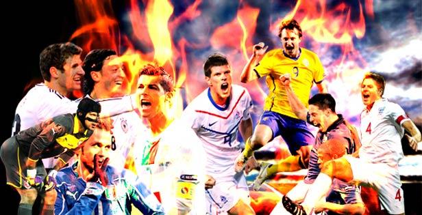 <font color=1F4558>球星,对于足球比赛来说是不可或缺的。球迷看的不仅是比赛的精彩程度,也是看自己喜欢球星的表现。欧洲足坛群星闪耀,已经可以想见,2012年的夏天会随着欧洲杯的进行变得更加炽热!</font>