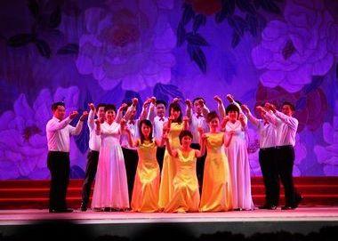 海翼地产表演合唱《感恩的心》