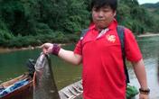 李仙江里打上的30多斤的大鱼