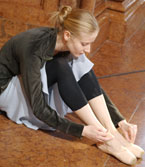 芭蕾舞演员在进行练习