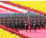 天安门广场举行隆重的升旗仪式