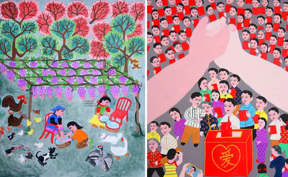 传统春节创意画