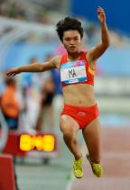 [高清图集]中国选手马月获得女子三级跳远冠军