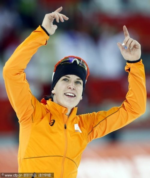[高清组图]速滑女子3000米决赛 伍斯特夺得冠军
