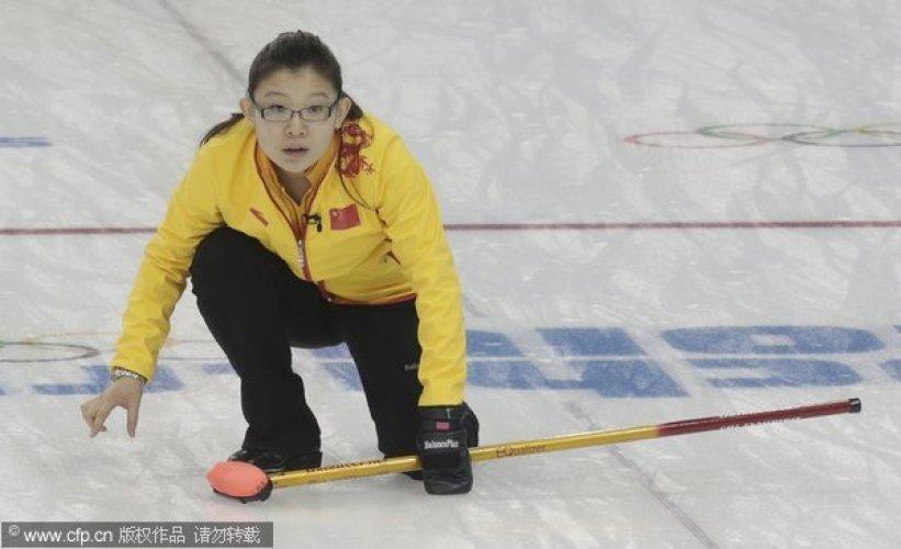 [高清组图]冰壶女子循环赛 中国队负于丹麦队