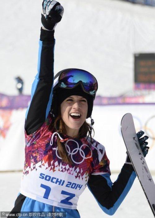 [高清组图]单板滑雪女子平行回转 奥地利选手摘金