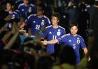 [高清组图]日本队世界杯壮行会 4号本田10号香川