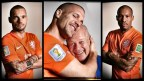 [高清组图]范加尔领衔荷兰队世界杯沙龙照