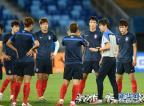 [高清组图]小组赛首场预备时 韩国队赛前训练