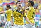 [高清组图]哥伦比亚2比1科特迪瓦 两连胜晋级在望