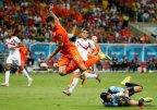 [高清组图]荷兰3中框 点球大战4-3淘汰哥斯达黎加