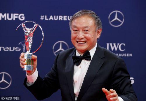 [高清组图]中国登山勇士夏伯渝获劳伦斯奖