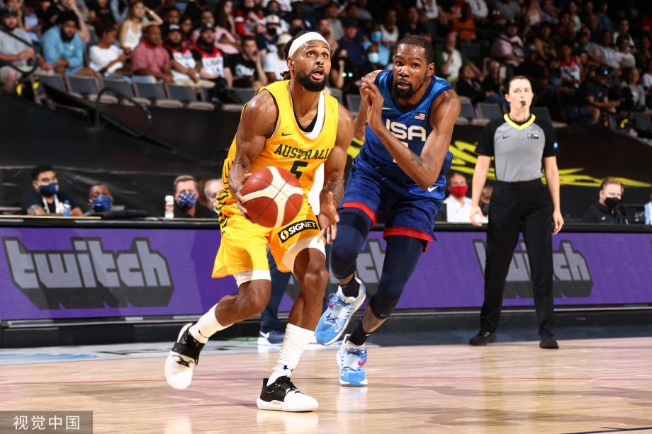 美国男篮热身赛首遭两连败 米尔斯22分杜兰特17分