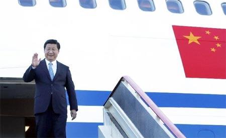 9月4日,国家主席习近平抵达俄罗斯圣彼得堡,出席5日至6日举行的二十国集团领导人第八次峰会。