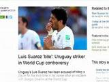 [世界杯]媒体热议咬人事件:苏亚雷斯回来了!