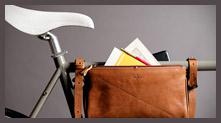 挂在自行车上的手提包