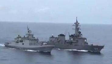 《今日关注》 20200928 印日最强战舰海上演习 试射可载核弹头导弹印欲何为?