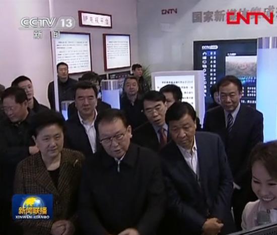 李长春参观中国网络电视台展台