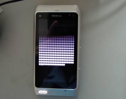 诺基亚N8在测试时显示的效果