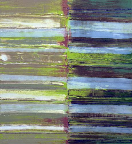 何癸锐 心迹系列之烙印11 布面综合材料 120X110cm 2011
