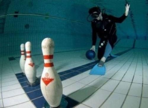 Интересный спорт под водой