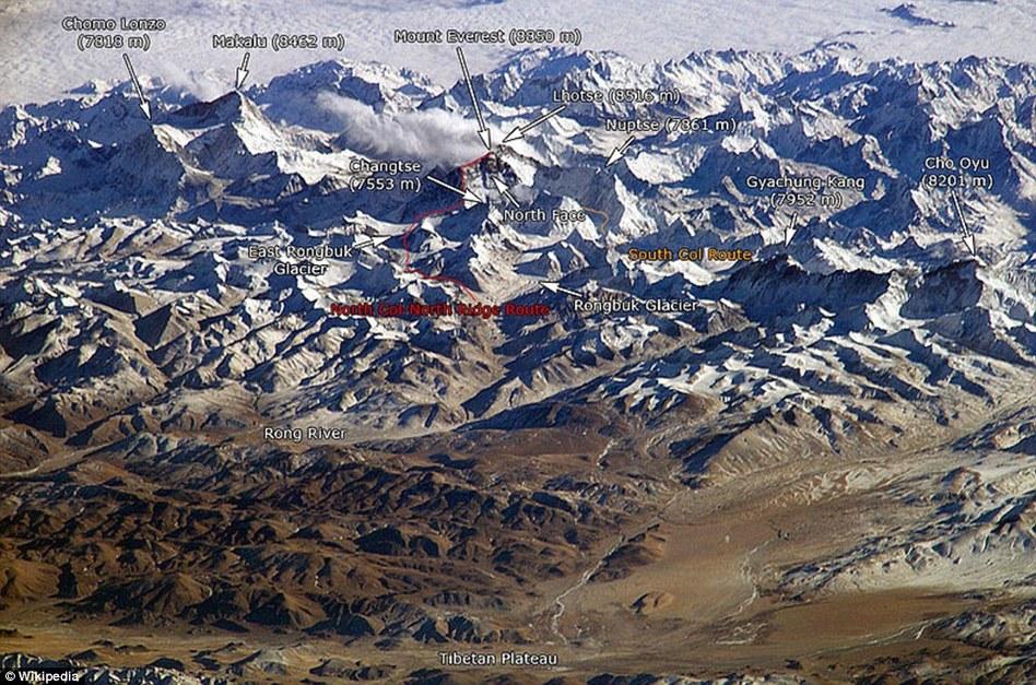 喜马拉雅山脉新旧图片对比显示气候变化效应