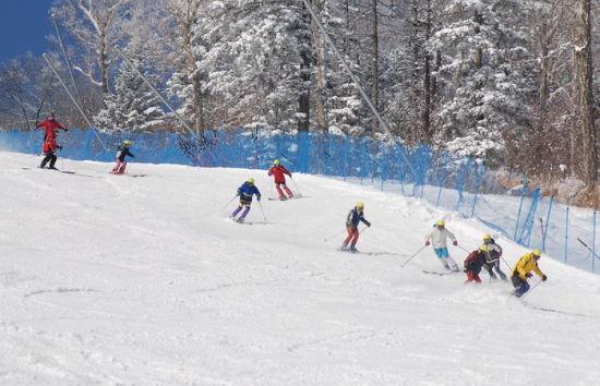 在雪上飞舞的人们