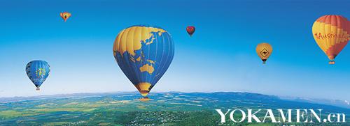 热气球上的美景