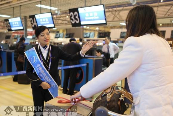 南航广西正式启用南宁吴圩机场专属地服业务(图)