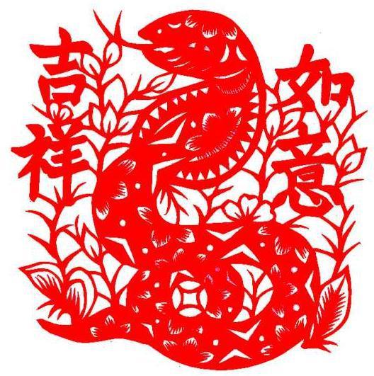蛇年剪纸,窗花剪纸