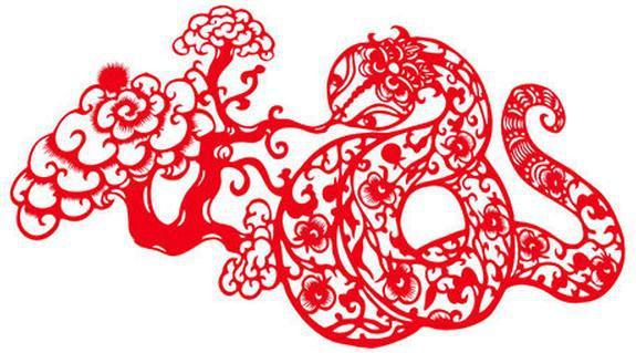 蛇吐祥云蛇年剪纸精美图案与剪纸教程提示