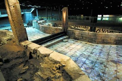 2012年12月31日,上海首个遗址博物馆——上海元代水闸遗址博物馆正式对外开放。蒋迪雯 摄